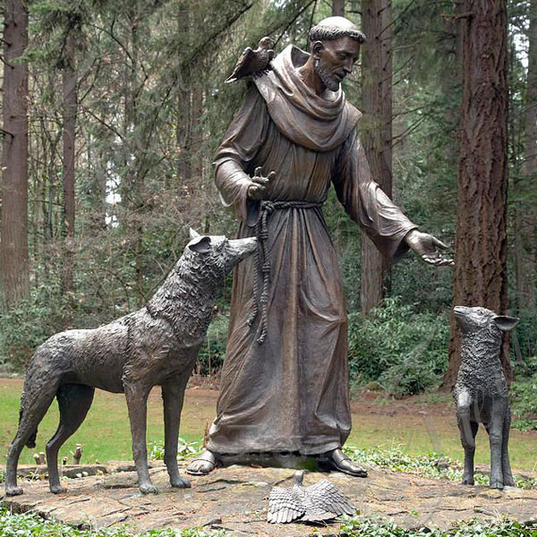 Cheap st francis outdoor statue tall garden art for sale near me