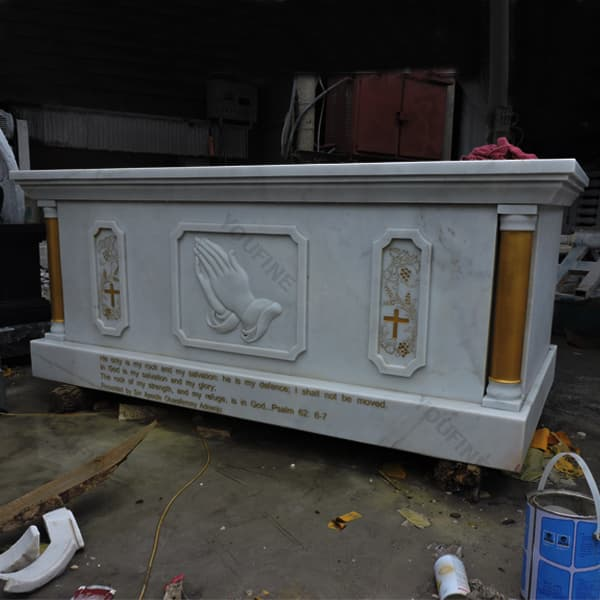 [Hot Item] Church Altar Carved From Natural White Marble