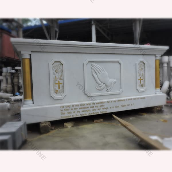 Buy modern marble altar table designs for church decoration ...