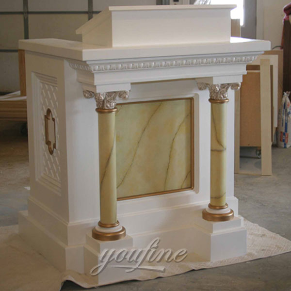 hand carved marble lectern factory for church decor- bronze ...