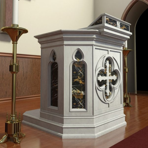 Lecterns - Carved Marble Lectern/Podium