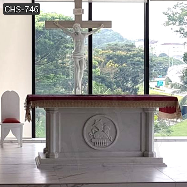 CHS-741 White Marble Church Altars for Home or Church Decor ...
