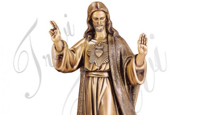 Bronze catholic sacred heart of jesus outdoor garden statue TBC-42