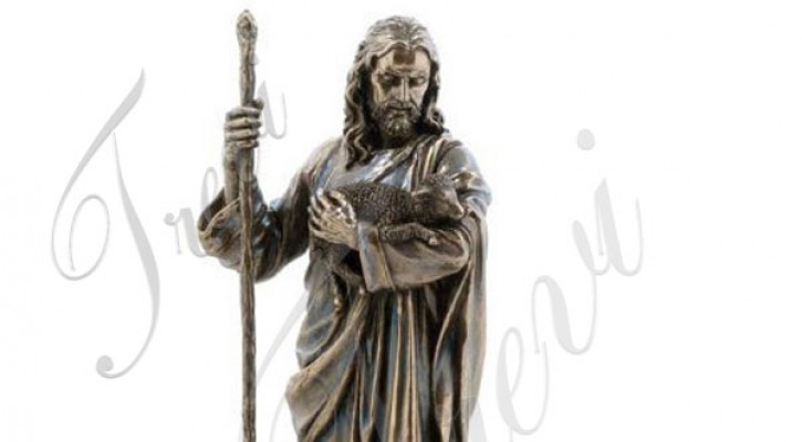 Bronze religious statues of the good shepherd for sale TBC-20