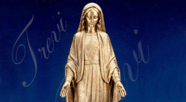 Bronze religious statues saint mary our lady of grace designs online TBC-34