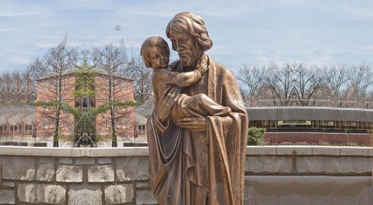 Where to buy st joseph holding babys bronze religious statue outdoor TBC-49
