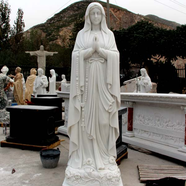 Beautiful blessed mother our lady of lourdes religious garden lawn statues maker TCH-88