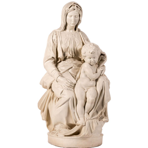 Michelangelo's madonna and child statues famous replica religious garden sculptures online for church TCH-72
