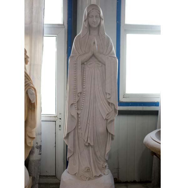 Beautiful virgin mary blessed lourdes life size religious garden statues for church decor TCH-94