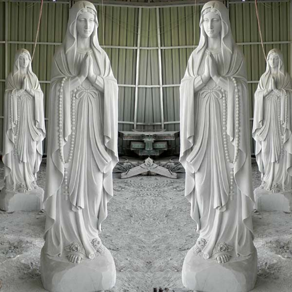 Catholic beautiful virgin mary blessed mother our lady of lourdes garden statue france for outdoor church lawn TCH-92