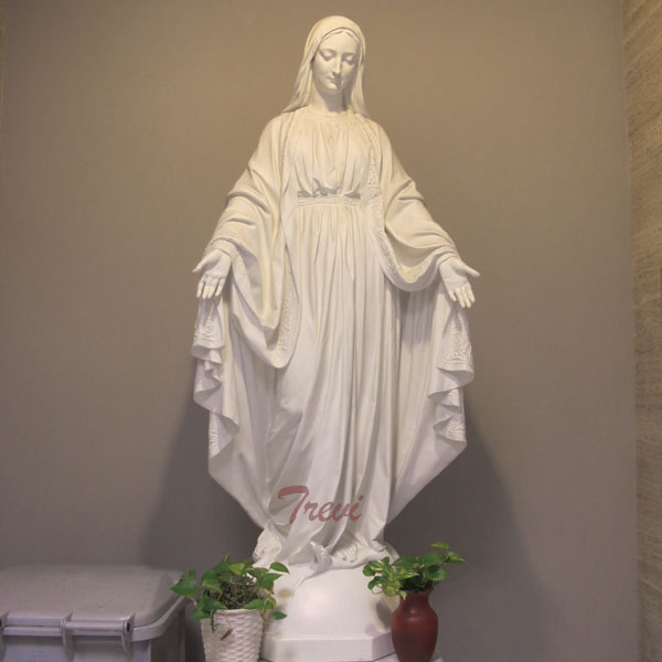 Lady of grace holy virgin mary life size statue for catholic church garden decor TCH-105