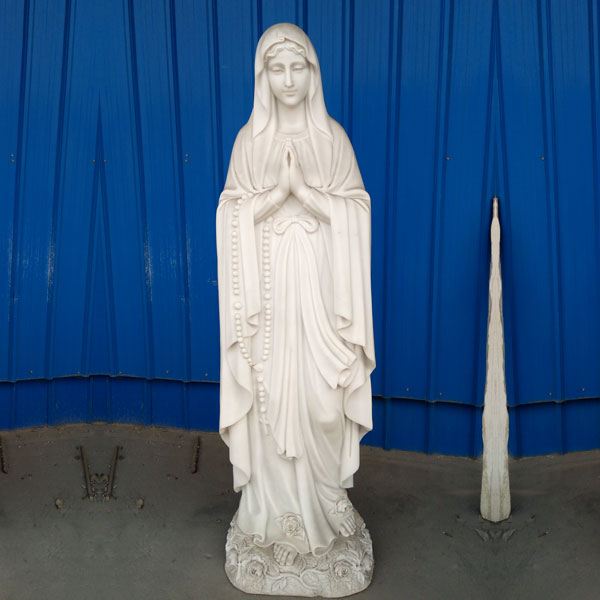 Beautiful mother mary our lady of lourdes rosary bead statues for church lawn deor to buy TCH-95