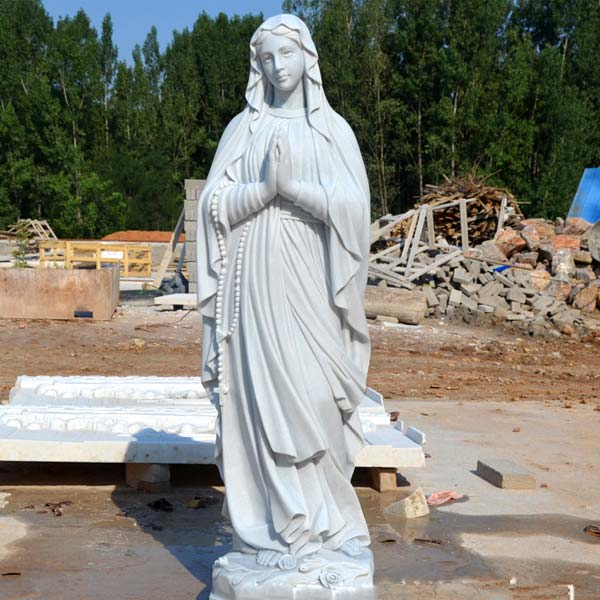 Outdoor beautiful virgin mary our lady of lourdes prayer statues for catholic church lawn decor TCH-91