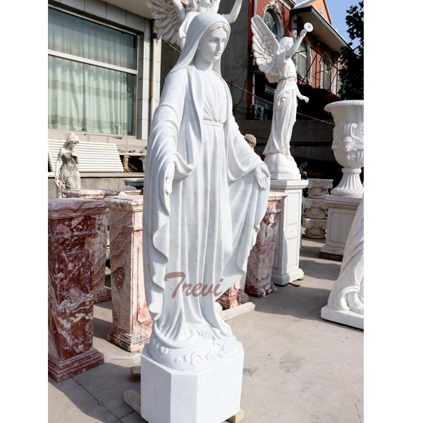 Holy mary our lady of grace catholic outdoor life size garden sculptures for sale TCH-102