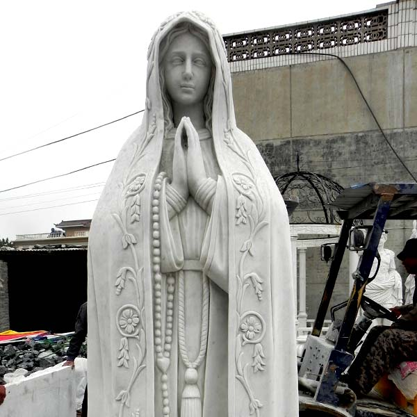 Virgen de fatima pilgrim statue with rosary beads religious church lawn sculptures to buy TCH-67