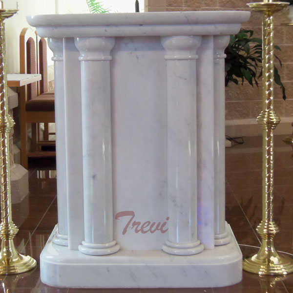 Buy used lecterns and pulpit catholic church furniture white marble carving designs online TCH-215