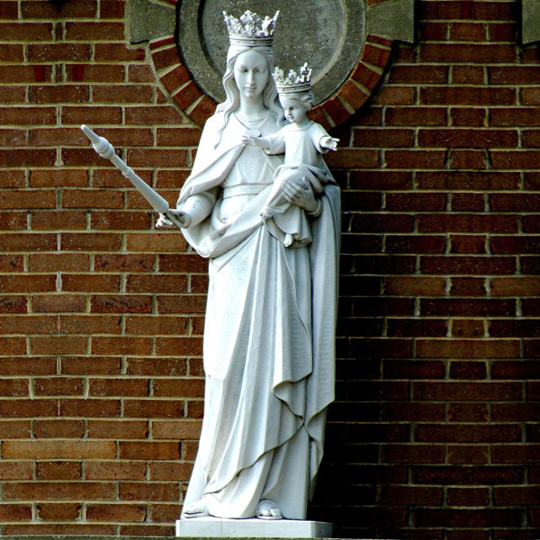 Catholic church our lady of mount carmel life size garden statue for sale TCH-225