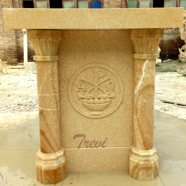 Contemporary factory supply hand carved marble church pulpits for sale TCH-218