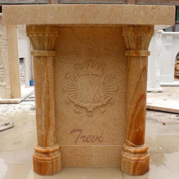Modern custom made antique beige marble pulpits furniture online sale TCH-217