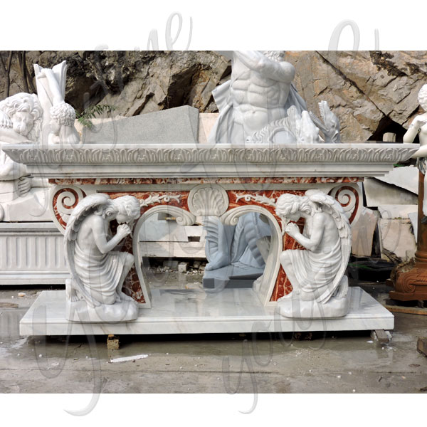 Modern luxury designs church altar table with kneeling angels for sale TCH-221