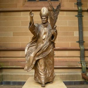 Bronze catholic garden sculptures of pope francis statue for sale