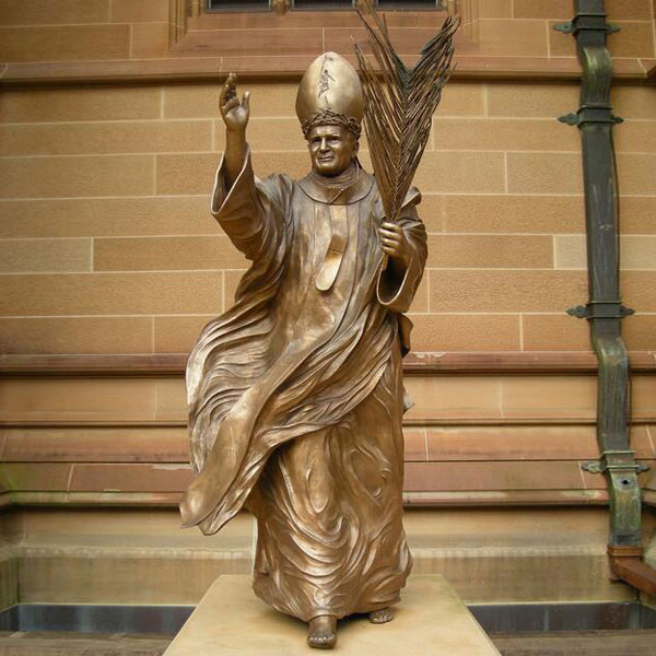 Bronze catholic garden sculptures of pope francis statue for sale TBC-16
