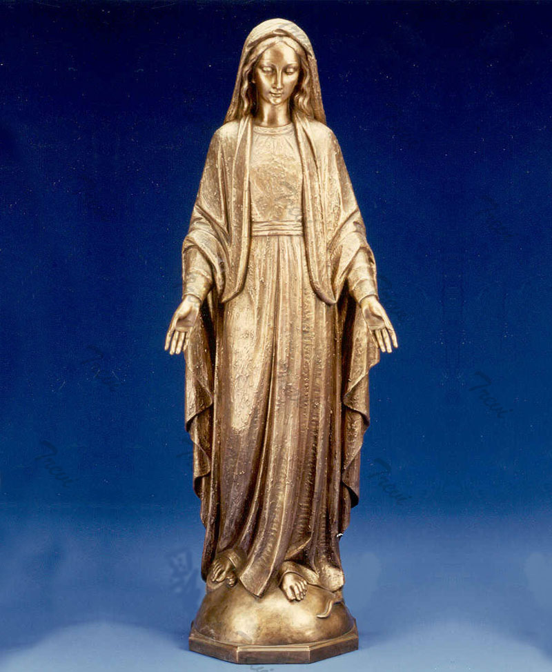 Bronze religious garden statues saint mary our lady of grace designs online