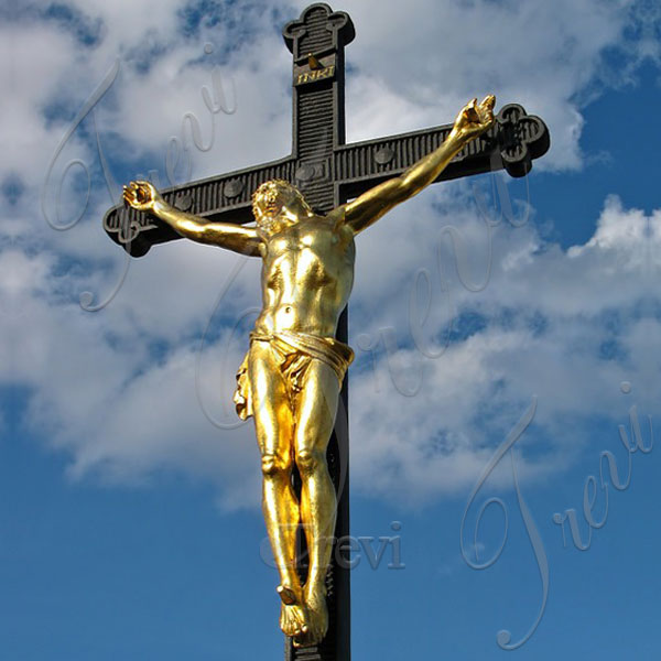 Bronze religious statues crucifixes jesus on the cross designs for sale TBC-43