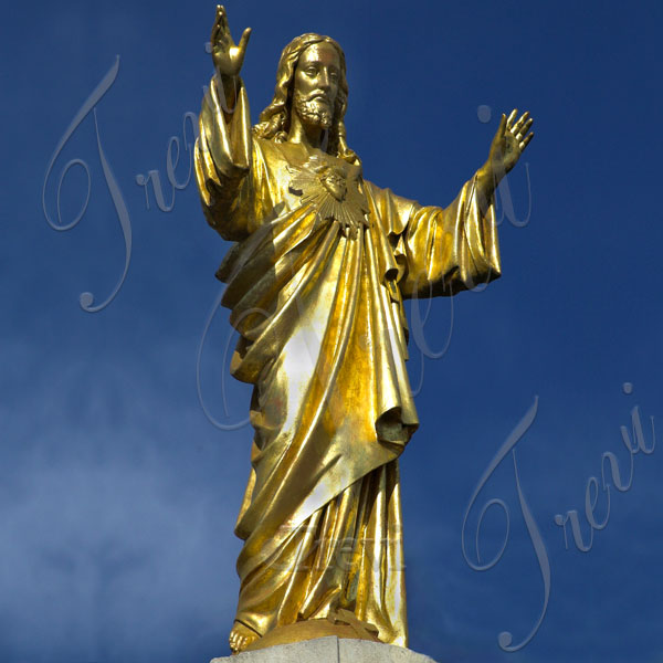 Bronze sacred heart of jesus religious garden statues for sale TBC-40