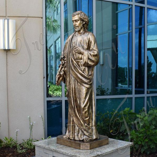 Buy st joseph bronze religious life size statue for home decor  TBC-48