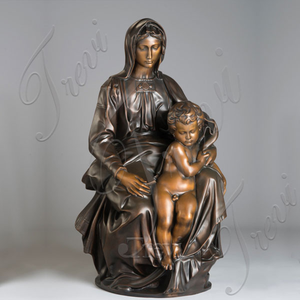 Catholic Mother mary and baby jesus madonna statue bruges online sale TBC-07