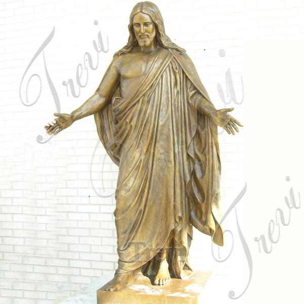 Life size bronze jesus open arms statues design for sale TBC-39