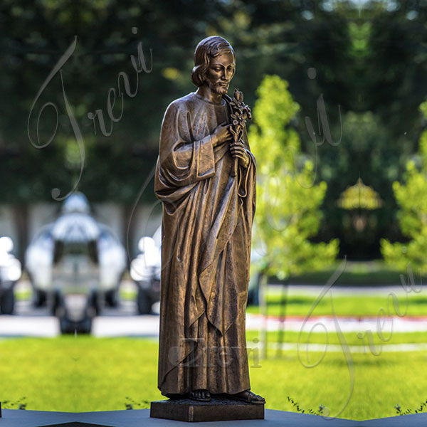 Outdoor bronze catholic statue of st joseph proyer sculptures for sale TBC-47